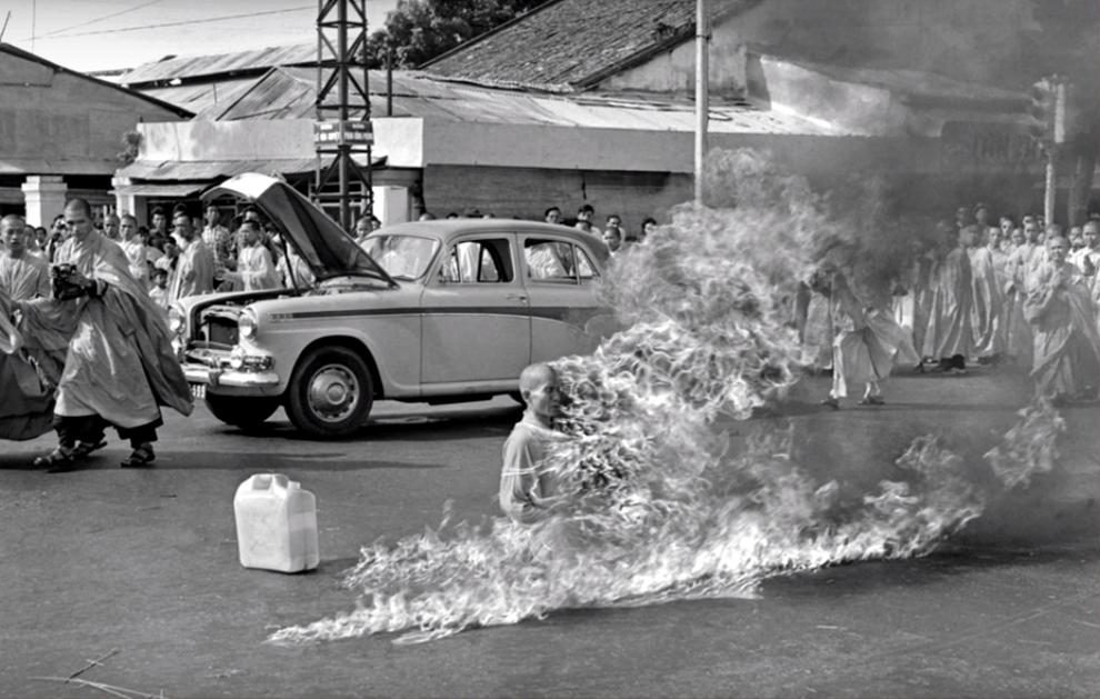 zapaljeni budist